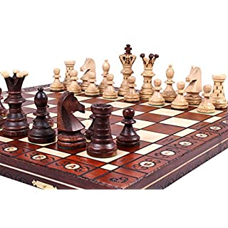 The Jarilo, Unique Wooden Chess Set, Pieces, Chess Board and Chess Piece Storage