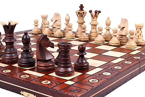 The Jarilo - Unique Wood Chess Set, Pieces, Chessboard and Storage