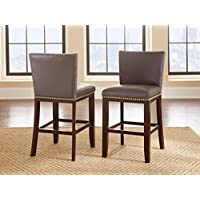 Steve Silver Company Tiffany Counter Chairs, Gray