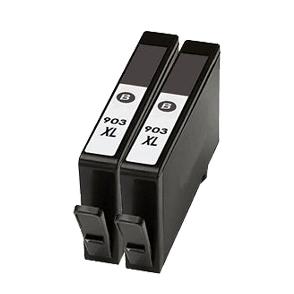 oyat® 2x negro 903XL compatible Cartucho de tinta para HP OfficeJet Pro 6950AIO 6960AIO 6970AIO 6975 CP903-2BK-FR