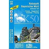 UK50-30 Naturpark Bayerischer Wald, südlicher Teil: Passau, Deggendorf, Vilshofen, Freyung, Osterhofen, Hauzenberg, Waldkirchen, Grafenau (UK50 ... Karte Freizeitkarte Wanderkarte, Band 30)
