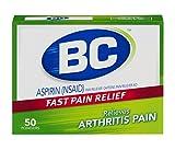 BC Aspirin Fast Pain Relief Powder | Arthritis Formula | Relieves Minor Arthritis Pain | Contains Caffeine | 50 Powders