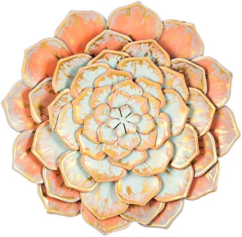 Cape Craftsmen Beautiful Springtime Colorful Multi Layer Brushed Metal Flower Wall Decor