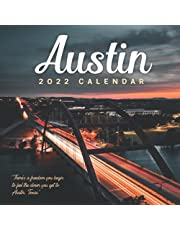 Austin 2022 Calendar: Gifts for Friends and Family with 12-month Monthly Calendar in 8.5x8.5 inch