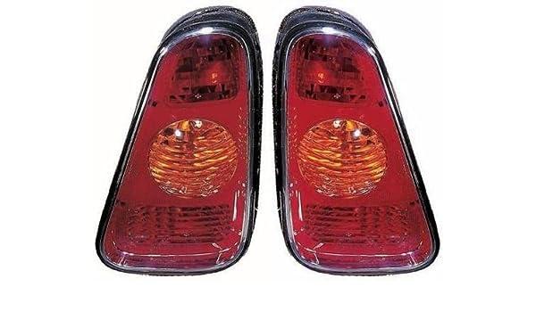 Red Amber Rear Brake Tail Light for 2002-2006 MINI COOPER Left Right Side Pair