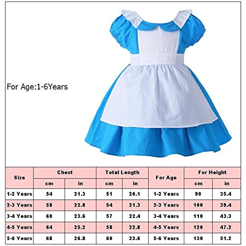 JiaDuo Little Girls Princess Alice Dress Up Cotton Halloween Costumes 130 by JiaDuo (Image #4)