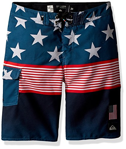 - Quiksilver Big Boys' Division Independent Youth Boardshort Swim Trunk, Navy Blazer, 29