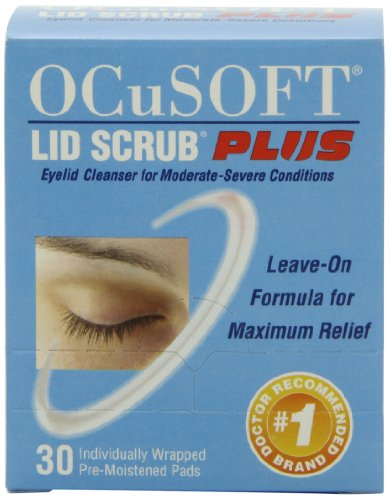 OCuSOFT Lid Scrub Plus, Pre-Moistened Pads, 30 Count (Best Way To Go To Bed With Wet Hair)