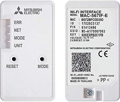 MITSUBISHI ELECTRIC MAC-567IF-E Scheda Wi-Fi per Serie M//S//P