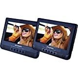 """Sylvania 10.1-Inch Dual Screen Portable DVD Player with USB Card Slot to Play Digital Movies"""""""
