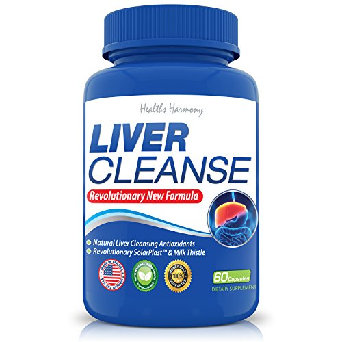 Liver Cleanse & Detox with Milk Thistle - Cleanses Toxins From Your Liver and Metabolize Fat - Natural Liver Support Supplement Formula - Made in the USA - 60 Veggie Capsules