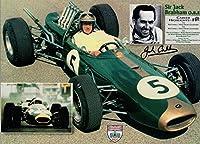 JACK BRABHAM HAND SIGNED 8x11 COLOR PHOTO+COA FORMULA 1 RACING LEGEND - Autographed Extreme Sports Photos from Sports Memorabilia