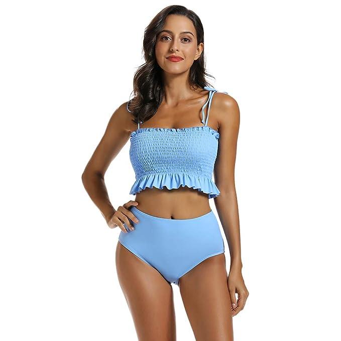 Amazon.com: MOLYBELL - Trajes de baño de cintura alta para ...