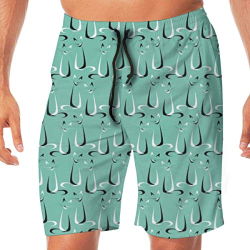 Abstract Boomerang Cats V2_1725 Mens 3D Printed Swim Trunks Quick Dry Summer Beach Sports Running - V2 Fox Print