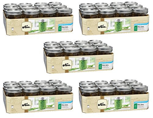 Kerr 518 Wide Mouth Jars with Lids and Bands, 16-Ounce, Set of 12 (5)