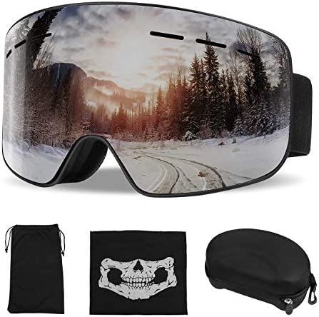 ActionEliters Ski Goggles,Snow Snowboard Snowboarding Goggles Over Glasses Helmet Compatible with Dual Layers Lens Anti-Fog UV Protection for Men,Women,Youth,Boys Girls