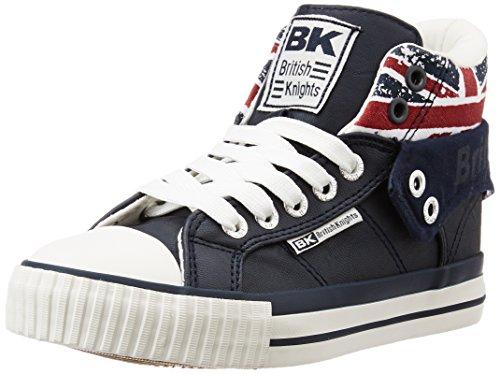 British Knights Unisex Kids' Roco Hi-Top Trainers, Blanc/Union Jack, 10.5 Child UK Bleu (Navy/Union Jack)