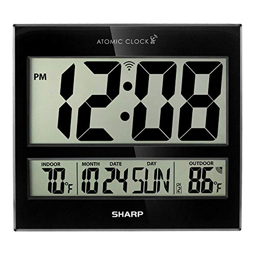 Sharp Atomic Clock - Atomic Accuracy - Never Needs Setting! - Jumbo 3