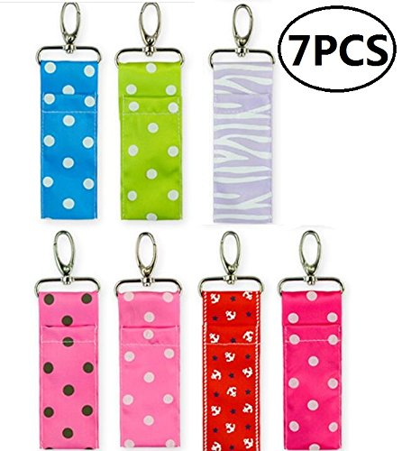 Chapstick Key Chain Holder with Clip Lip Balm Holder?7 Pack