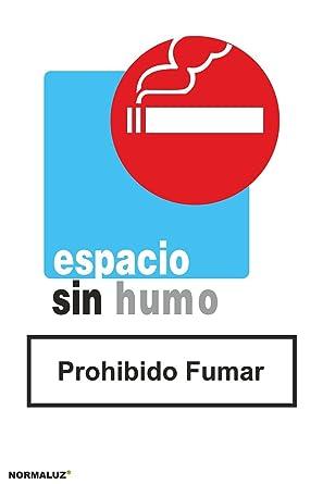 Normaluz RD40652 - Señal Adhesiva Espacio Sin Humo Prohibido Fumar Adhesivo de Vinilo 20x30 cm