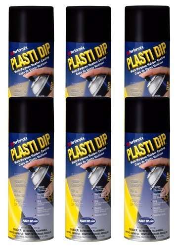 6 PACK PLASTI DIP Mulit-Purpose Rubber Coating Spray BLACK 11oz Aerosol by Plasti Dip