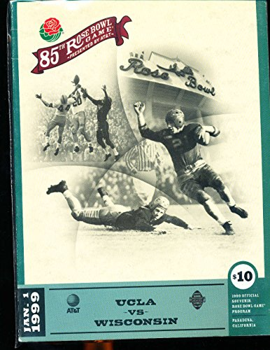 1999 Rose Bowl Football Program UCLA vs Wisconsin - Ucla Bowl Football Rose