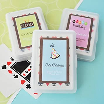 Image Unavailable Not Available For Color 100PC EB2033Y Personalized Birthday Playing Cards