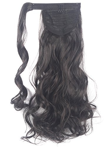 Lelinta 18'' Wavy Curly Wrap Around Ponytail Extension for Woman Synthetic Hair Extension by Lelinta