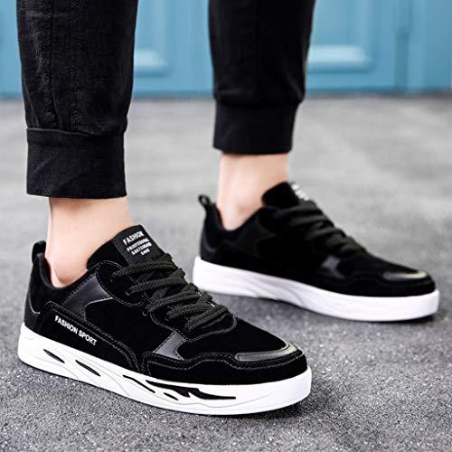gray WangKuanHome tendenza scarpe selvaggia Black da da da estate di Size casuale scarpe Gray 44 Color uomo Scarpe Color color uomo scarpe traspirante uomo Black tela pp7FrHq