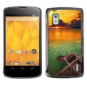 Be Good Phone Accessory // Dura Cáscara cubierta Protectora Caso Carcasa Funda de Protección para LG Google Nexus 4 E960 // Beach Nature Sky Sun Summer
