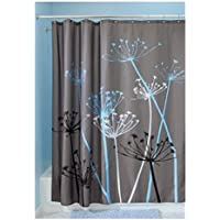 InterDesign Thistle Shower Curtain, Standard (Gray and Blue)