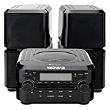 Magnavox MM435 Home Music Compact Bluetooth CD Player Shelf Speaker System With AM/FM Radio, Top Loading, LCD Display, 3.5mm Aux In Port
