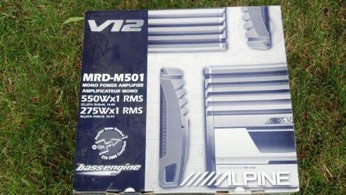 Alpine V12 MRD-M501 550 Watt Mono Amp