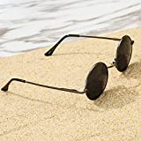 Pro Acme Retro Small Round Polarized Sunglasses for Men Women John Lennon Style
