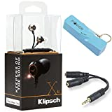Klipsch Remote Control Best Deals - Klipsch X4i In-Ear Headphones with In-Line iOS Remote & Mic for iPod/iPhone/iPad Bundle includes Klipsch X4i Headphones, Portable Keychain Power Bank and Headphone Splitter