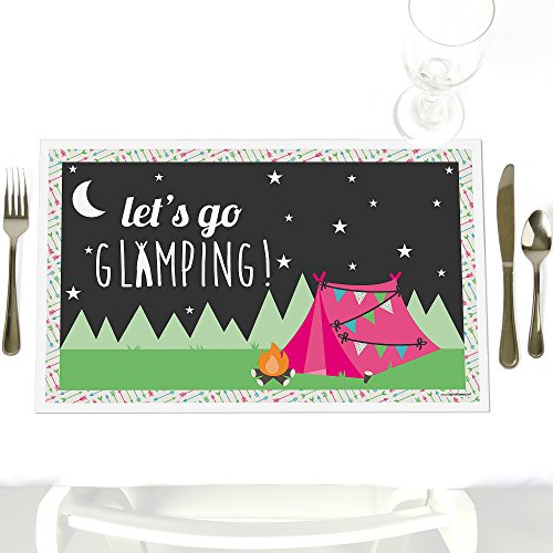 Let's Go Glamping - Party Table Decorations - Camp Glamp Party or Birthday Party Placemats - Set of 12]()