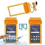 Acm Waterproof Bag Case for Honor 8 Smart Mobile (Rain,Dust,Snow & Water Resistant) Orange