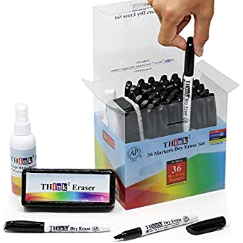 Amazon.com : [14 Dry Erase Markers - 12 Black + Red + Blue