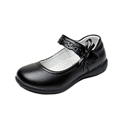 New Girls Mary Jane Ballet Flats Ankle Strap Laces Casual Dress Shoes Size:9-10