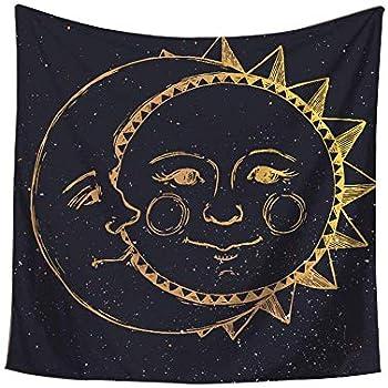 Amazon Com Celestial Indian Gold Fractal Sun And Moon