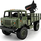 RC Car,WPL B-24 1:16 4WD RC Military Truck Wireless Remote Control Car Toy By Dacawin (Green)