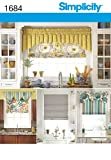 Simplicity 1684 Roman Shades and Valances Sewing Pattern, One Size