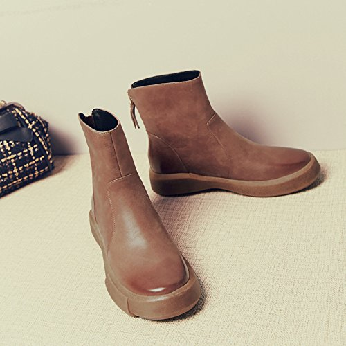 Coffee Flat Cylinder Female Play Low Boots Head Wax w0zx0aHpq
