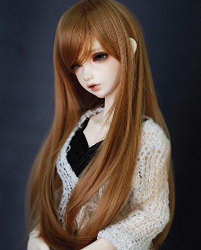 Kuafu (17.5-18.5cm) 1/4 BJD/SD Doll Wig Girl's Long Straight Hair Wigs Brown