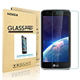 LG K8 Screen Protector, NOKEA Full Coverage [9H Hardness] [Crystal Clear] [Easy Bubble-Free Installation] [Scratch Resist] Tempered Glass for LG K8, LG Escape 3, LG Phoenix 2 (For LG K8)