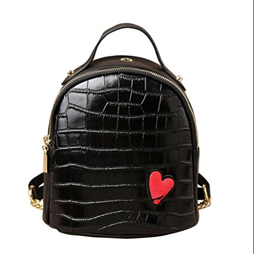 HEYFAIR Womens Cute Love Leather Backpack Purse Casual School College Daypack Bag by HEYFAIR
