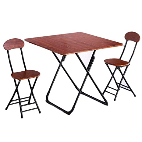 Cool Amazon Com Folding Table Household Dining Table Small Theyellowbook Wood Chair Design Ideas Theyellowbookinfo