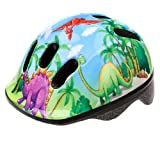 Meteor Baby Kids childrens Boys Cycle Safety Crash Helmet Small size (Dinosaur, 44-48 cm)