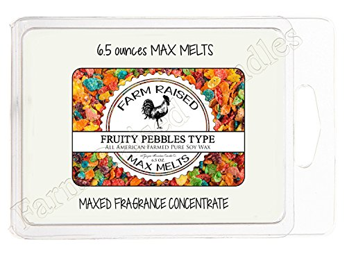 Farm Raised Candles Fruity Pebbles type Scented Soy Wax MELT