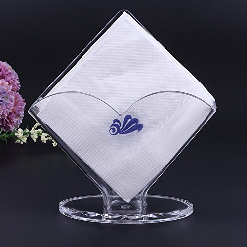 Napkin Holder Acrylic Napkin holders Restaurant Kitchen Tables Counter Design of Flower and Square by LLAMEVOL (acrylic holder)